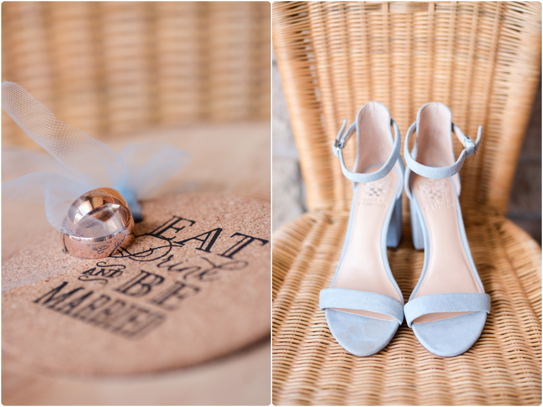 wedding shoes and wedding bands