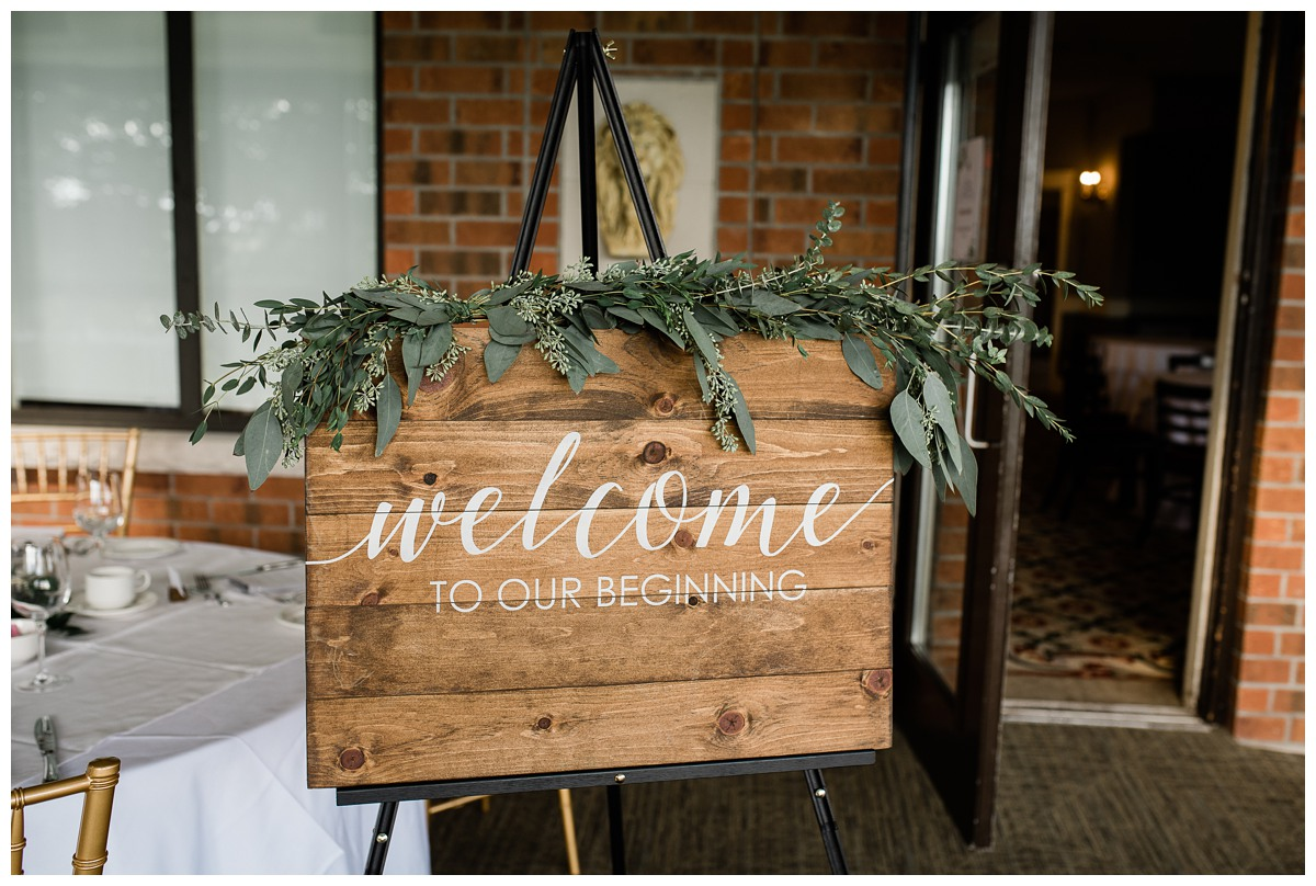 Hand made elegant Welcome sign at Royal Ashburn in Whitby