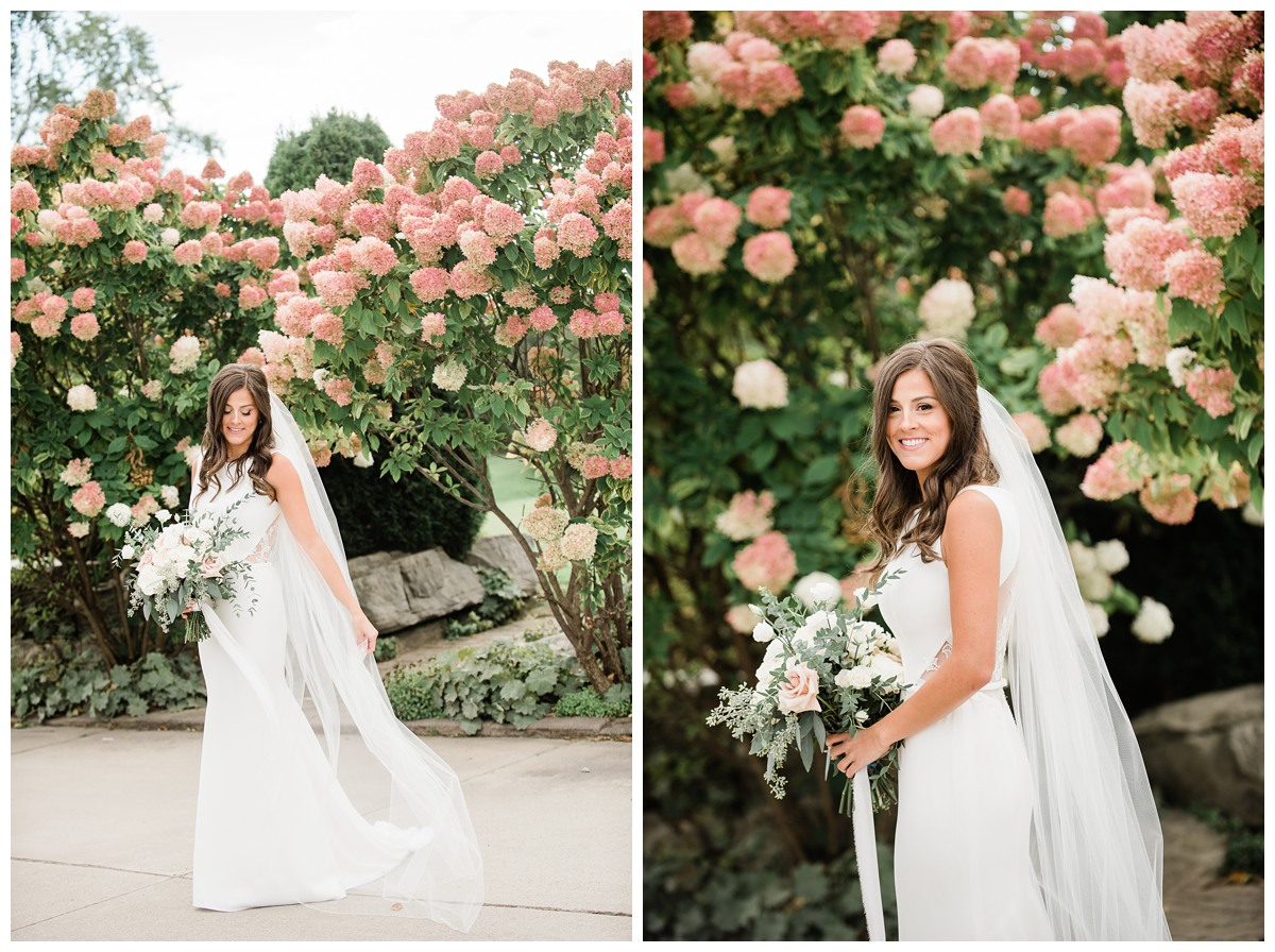 Portraits of gorgeous bride in her wedding gown at Royal Ashburn Whitby